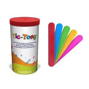 Porta Abaixador De Língua + 40 TIC-TONG Standart Agaplastic