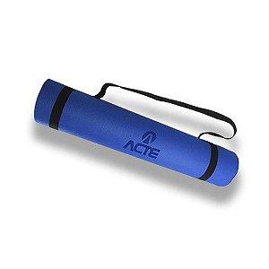 Tapete Yoga Mat 170x60cm EVA Azul Acte