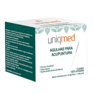 Agulha Acupuntura 0,20X15mm cx c/ 100 un. UNIQMED