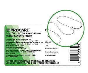 Fio Agulhado Nylon 2/0 C/ Agulha 20mm Unidade PROCARE