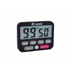 Timer Digital com Cronômetro e Alarme c/LED Incoterm