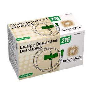 Escalpe SCALP 21G Lock Caixa c/ 100 Un. Descarpack