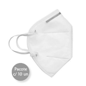 Máscara de Proteção Respiratória KN95/PFF-2 c/10 Multilaser