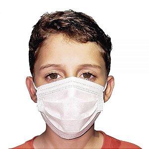 Máscara Infantil Dupla Camada com Filtro BRANCA c/50un. OrthoPauher