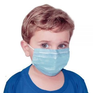 Máscara Infantil Dupla Camada com Filtro AZUL c/50un. OrthoPauher