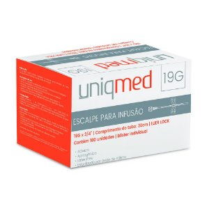Escalpe SCALP 19G Luer Lock c/100 un. Uniqmed