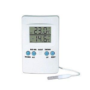 Termômetro Digital Máxima/Mínima In/Out c/Alarme 100 Supermedy