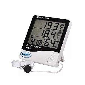 Termo-Higrômetro Máxima/Mínima HTC-2 Supermedy