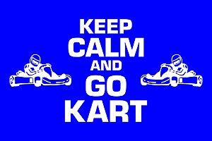 Capacho Kart Keep Calm azul escuro