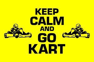 Capacho Kart Keep Calm amarelo