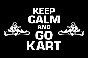 Tapete Capacho Kart Keep Calm preto