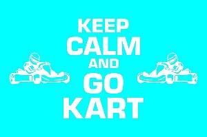 Tapete Capacho Kart Keep Calm azul