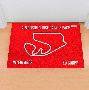 Tapete Capacho Racing Interlagos Traçado vermelho