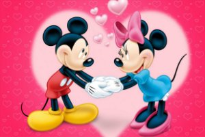 Tapete mickey e minnie