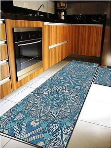 Kit Cozinha Mandala Azul