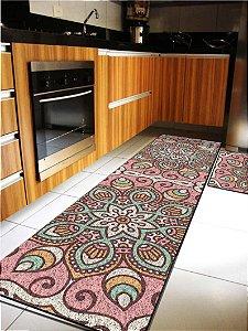 Kit Cozinha Mandala Rosa