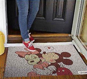 Capacho - Mickey e Minnie Beijo Vintage
