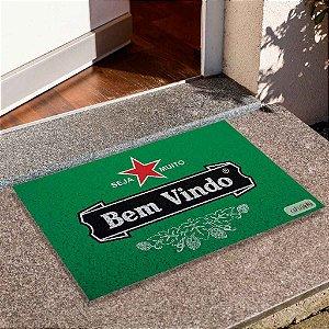 Capacho Bem Vindo Heineken Borda Branca