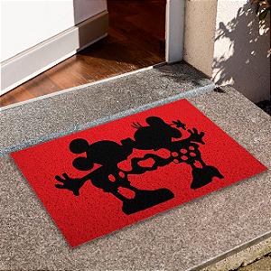 Capacho Mickey e  Minnie Se Beijando