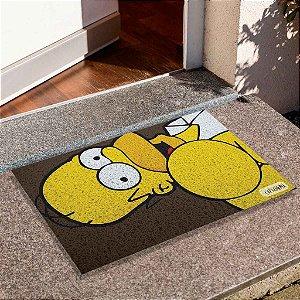 Capacho Homer Simpsons Fundo Marrom