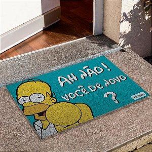 Capacho Homer Ah Não Você De Novo Azul