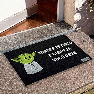 Capacho Yoda Trazer Petisco E Cerveja