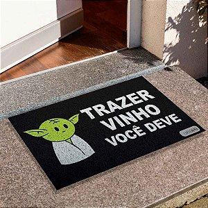 Capacho Yoda Trazer Vinho
