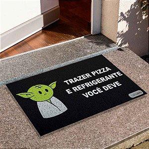 Capacho Yoda Trazer Pizza E Refri