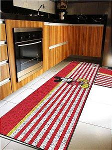 Kit Cozinha  Mickey Listrado