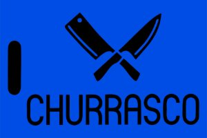 Capacho Tabua De Churrasco Azul