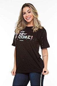 Camiseta Furada Grunge