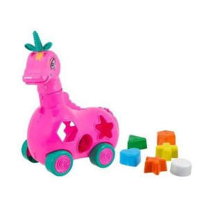 Brinquedo Educativo Pedagógico Unicornio Luna  - Brinquedo Didático de Encaixe - BQ7070S-0965 - Kendy