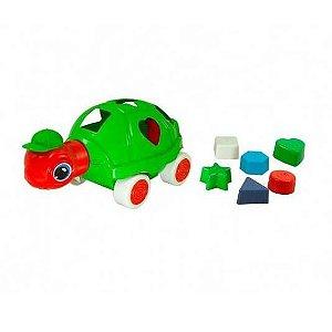 Brinquedo Educativo Pedagógico Tartaruga Luli  - Brinquedo Didático de Encaixe- BQ7090S-0828 - Kendy