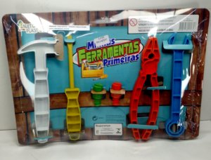 Kit de Ferramentas Infantil - Minhas Primeiras Ferramentas - Injeto Plastic - Ref.04