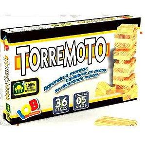 Brinquedo Educativo Jogo Pedagógico IOB Madeira  - Torremoto - Ref.007