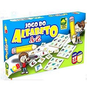 Brinquedo Educativo Jogo Pedagógico IOB Madeira  - Jogo do Alfabeto  - A a Z - Ref. 69