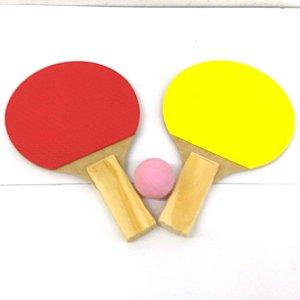 KIt de Ping-Pong com 3 pecas - Raquete de Ping-Pong com bolinha - LUFE - 4141