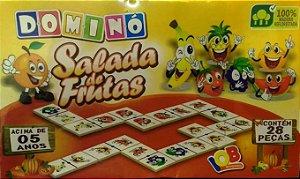 Brinquedo Educativo Jogo Pedagógico IOB Madeira - Domino Salada de Frutas Ref.04