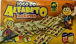 Brinquedo Educativo Jogo Pedagógico IOB Madeira - Jogo do Alfabeto Letras -  Ref.06