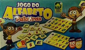 Brinquedo Educativo Jogo Pedagógico IOB Madeira - Jogo do Alfabeto Palavras -  Ref.71