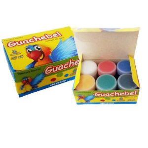 Tinta Guache escolar - Guachebel - com 6 cores - 5062