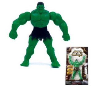 Boneco Super Hero VERDE 17 cm - 512