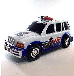 Carro de polícia - bate e volta - com luz e som - 16cm - SQ2380