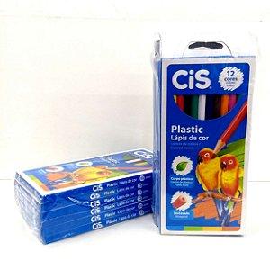 Lapis de Cor 12 cores - Pacote com 6 caixas de 12 cores cada - Ref. 6433