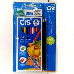 Kit Escolar 5 em 1 : Lapis de cor - Lapis HB - Borracha - Apontador - Ref. 7552 - db
