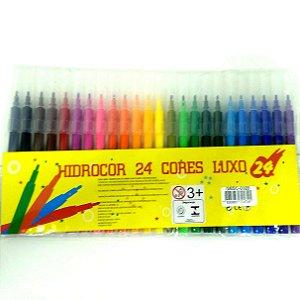 Caneta HIdrografica 24 cores - Canetinha Hidrocor 24 cores LUXO - GESC0028