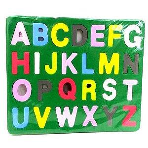 Jogo Educativo Pedagogico em EVA - Encaixe Alfabeto - 19x23 cm - MINGONE