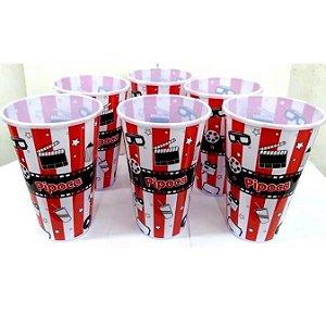 Pote de Pipoca Popcorn PEQUENO - 18 cm alura - plastico - LT16489