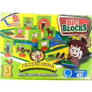 Brinquedo Educativo Jogo Pedagógico - Big Block FAZENDINHA - IOB Madeira Artepinus ref.17