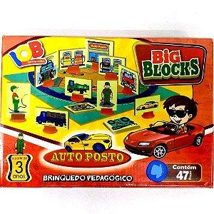 Brinquedo Educativo Jogo Pedagógico - Big Block AUTO POSTO - IOB Madeira Artepinus ref.51